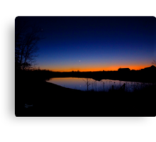 """ New Moon Over Kentucky, On Christmas Night 2011"" Canvas Print"