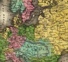 Vintage Map of Europe (1842) Sticker