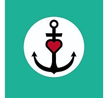 Anchor with Heart Photographic Print
