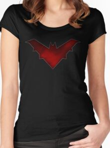 red hood symbol Women's Fitted Scoop T-Shirt