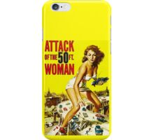 Attack of the 50ft Woman poster iPhone Case/Skin
