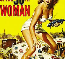Attack of the 50ft Woman poster by Vintage Designs