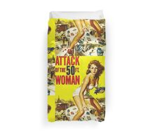 Attack of the 50ft Woman poster Duvet Cover