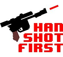 8-bit Han shot first Photographic Print