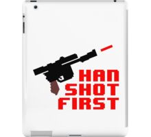 8-bit Han shot first iPad Case/Skin