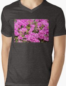 Red Blossoms Mens V-Neck T-Shirt