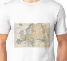 Vintage Map of Europe (1892) Unisex T-Shirt