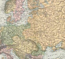 Vintage Map of Europe (1892) Sticker