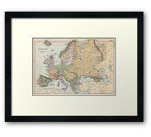 Vintage Map of Europe (1892) Framed Print