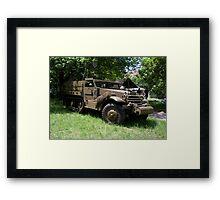 M21 Mortar Motor Carriage Framed Print