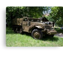 M21 Mortar Motor Carriage Canvas Print