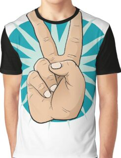 Pop Art Victory Hand Sign. Graphic T-Shirt