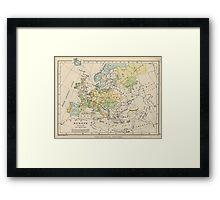Vintage Map of Europe (1905) Framed Print