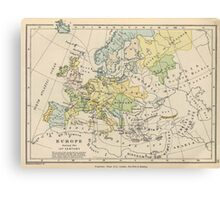 Vintage Map of Europe (1905) Canvas Print