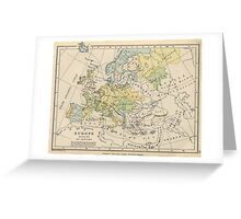 Vintage Map of Europe (1905) Greeting Card