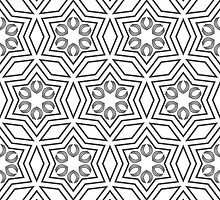 Geometric pattern in white and grey by Ederella