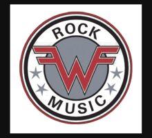 weezer logo rock music Baby Tee