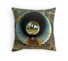 TUNNEL TRAVEL Throw Pillow