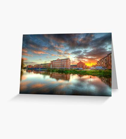 Suburban Sunset 4.0 Greeting Card