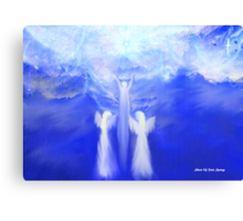 ANGELS TAKING THEIR LOVE ONES TO HEAVEN Canvas Print