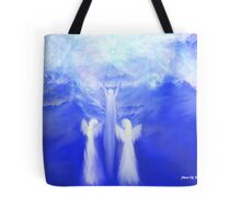 ANGELS TAKING THEIR LOVE ONES TO HEAVEN Tote Bag