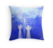 ANGELS TAKING THEIR LOVE ONES TO HEAVEN Throw Pillow