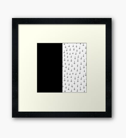 Black Metal Jester Framed Print