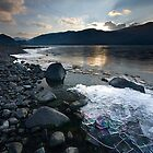 Ice on Derwent Water by mattcattell