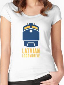Latvian Locomotive Women's Fitted Scoop T-Shirt
