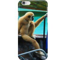 monkey in a boat iPhone Case/Skin