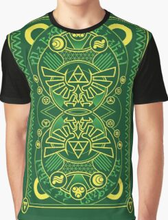 Card Back - Hylian Court Legend of Zelda Graphic T-Shirt