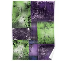 Squares Abstract Poster