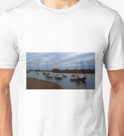 Boats on the river 2 Unisex T-Shirt