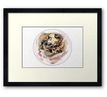 Breast Cancer Awareness-( In Dogs ) Framed Print
