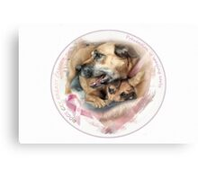Breast Cancer Awareness-( In Dogs ) Canvas Print