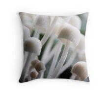 umbrellas in white Throw Pillow