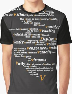 V For Vendetta - You Can Call Me V Graphic T-Shirt