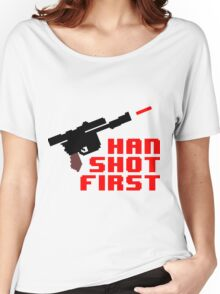 8-bit Han shot first Women's Relaxed Fit T-Shirt