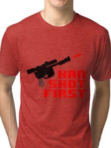 8-bit Han shot first Tri-blend T-Shirt