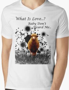 """Hilarious Sheep Parody of """"What is Love"""" Mens V-Neck T-Shirt"""