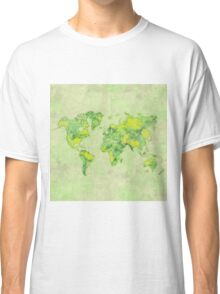 World Green Blue Vintage Classic T-Shirt