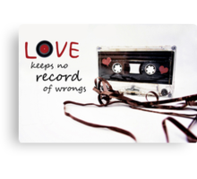 Love Keeps no Record of Wrongs Canvas Print