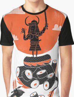 Samurai Sushi Graphic T-Shirt