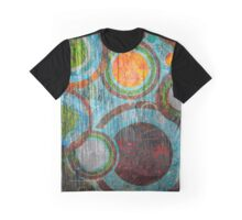 Grunge Retro Vintage Circles Pattern Graphic T-Shirt