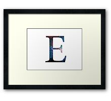 Epsilon Greek Letter Framed Print