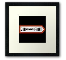 To Normandy Front, WWII Sign, France Framed Print