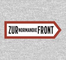 To Normandy Front, WWII Sign, France Kids Tee