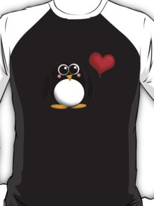Adorable Penguin Heart Balloon T-Shirt