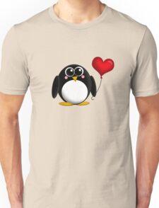 Adorable Penguin Heart Balloon Unisex T-Shirt
