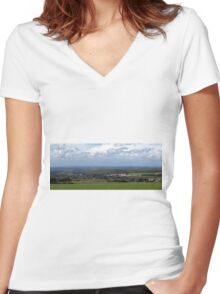 Purbeck Panorama Women's Fitted V-Neck T-Shirt